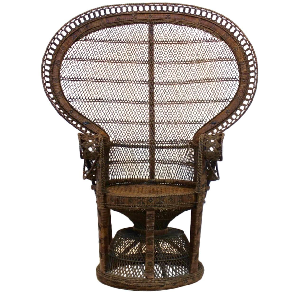 rattan peacock chair white childs desk and iconic 1970s at 1stdibs