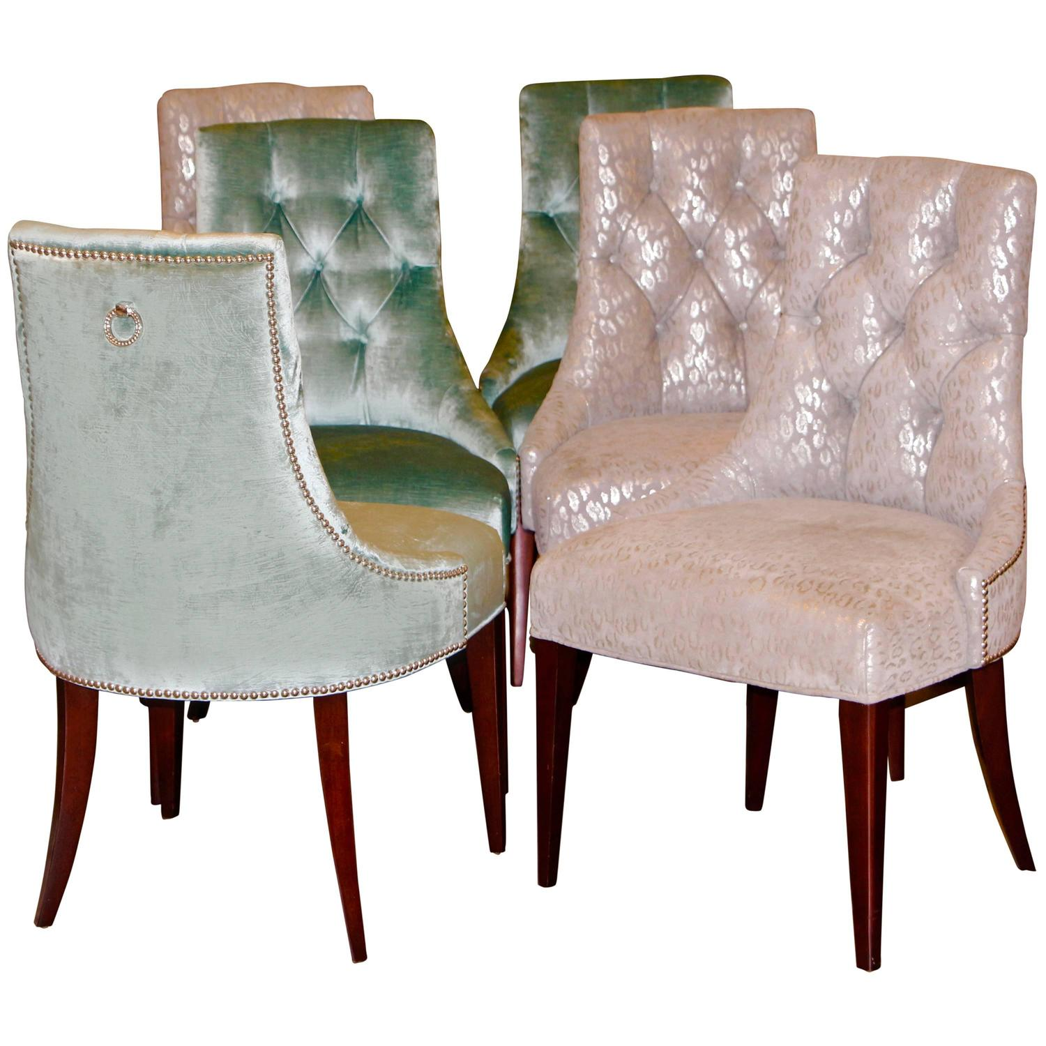 Baker Dining Chairs Set Of Six Ritz Chairs Designed By Thomas Pheasant For