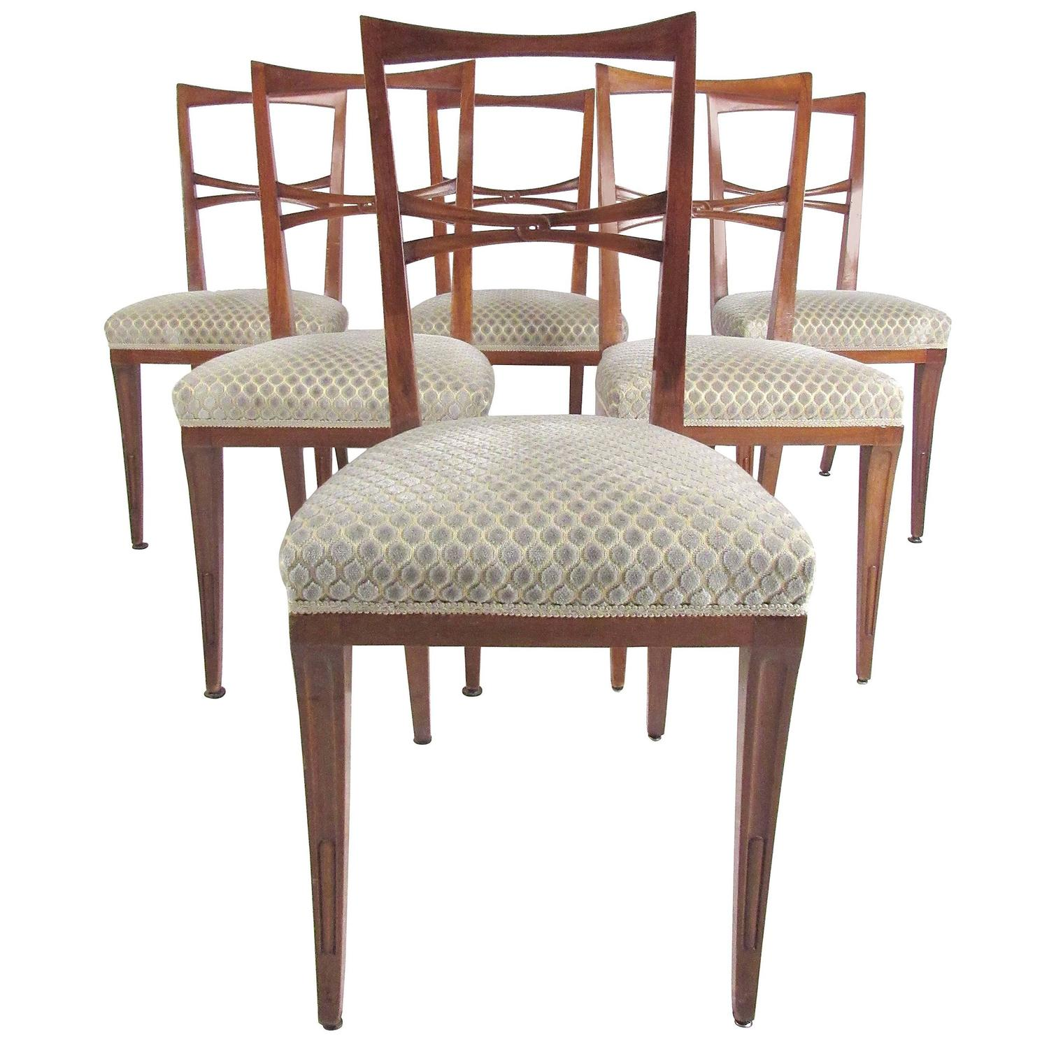Italian Dining Chairs Set Of Mid Century Modern Italian Dining Chairs In The