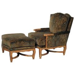 French Bergere Chair And Ottoman Used Office Large Country Style By Hammer