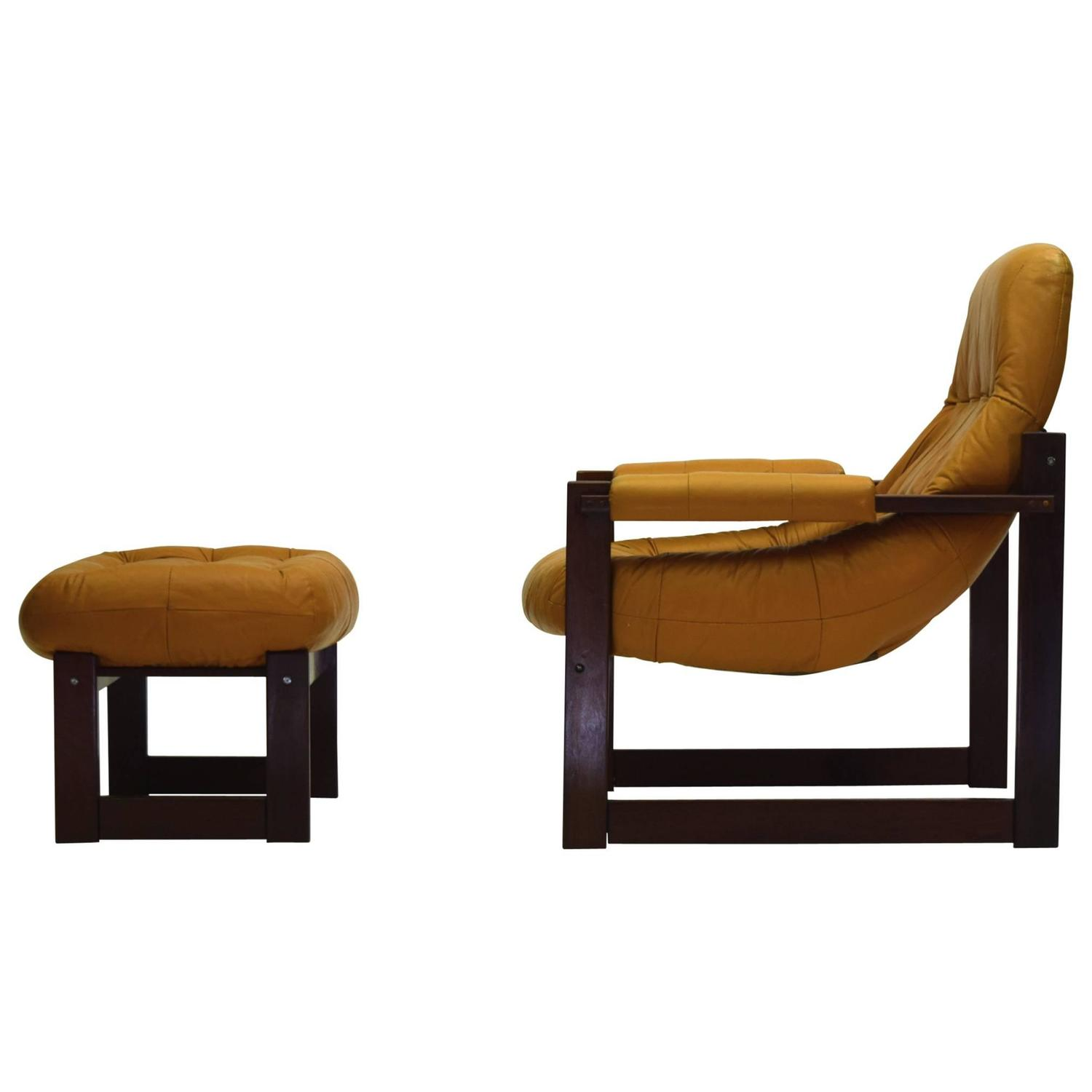 oversized leather chair and ottoman sit stand amazon large lounge by percival lafer