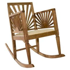Antique Rocking Chairs Without Arms Parson Chair Covers Bed Bath And Beyond Unusual Beechwood At 1stdibs