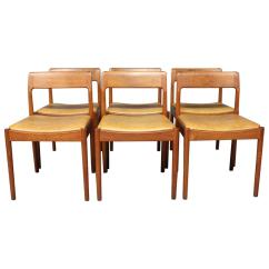 Set Of Six Dining Chairs For Sale Foam Flip Chair Room In Teak By N O Møller