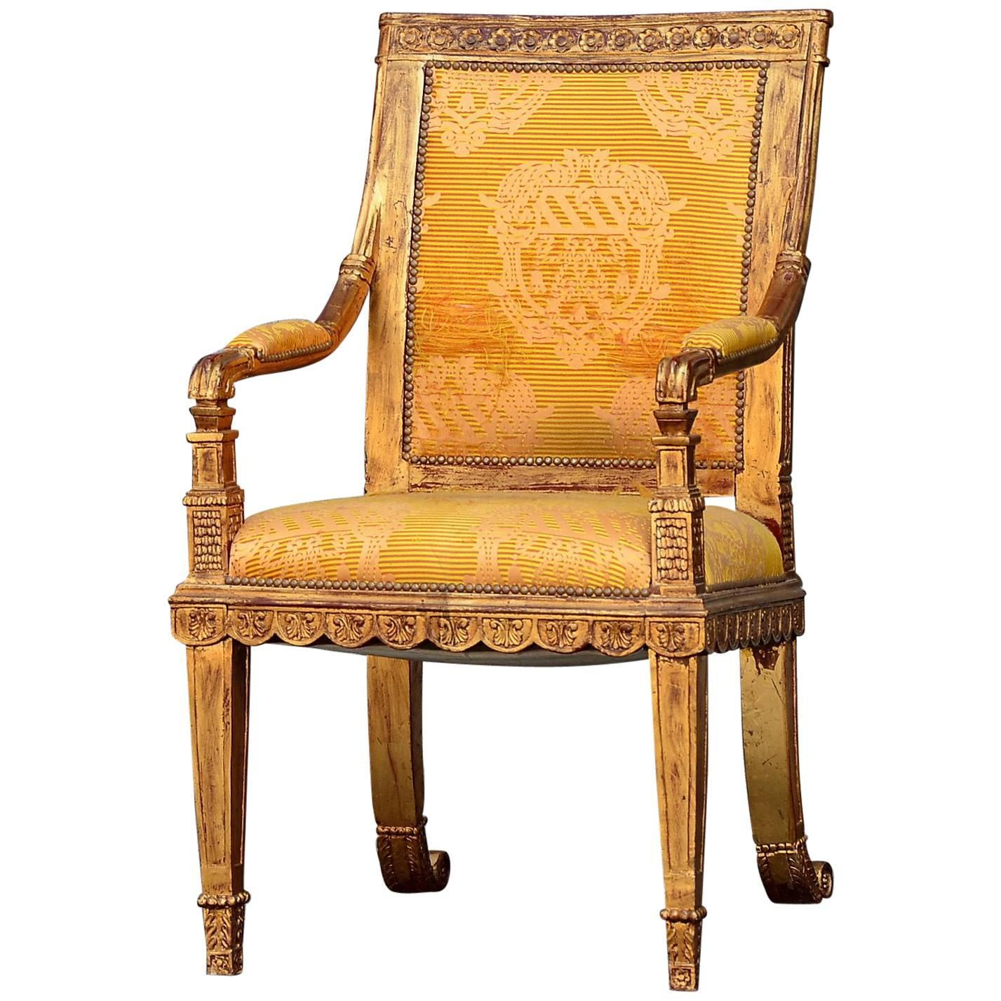 Chair King Sale French King Throne Gold Leaf Chair Ornate Circa 1960 For