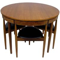 1950s Hans Olsen Teak Dining Table and Chairs, Denmark at ...