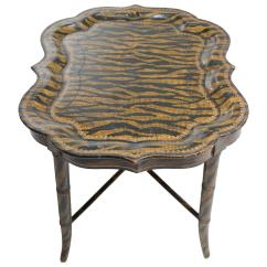 Tiger Print Chair Gaming Bluetooth Hand Painted Coffee Table By Maitland Smith
