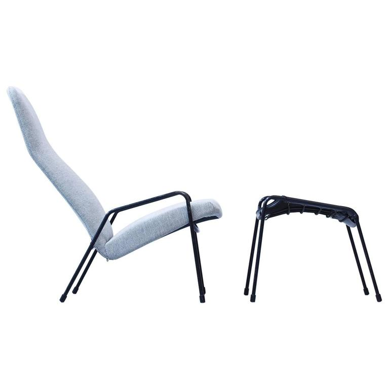 easy chairs with footrests recovering chair cushions corners 1950s contour and footrest by alf svensson at 1stdibs