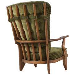 High Back Velvet Chair Staples Office Parts Guillerme And Chambron In Green