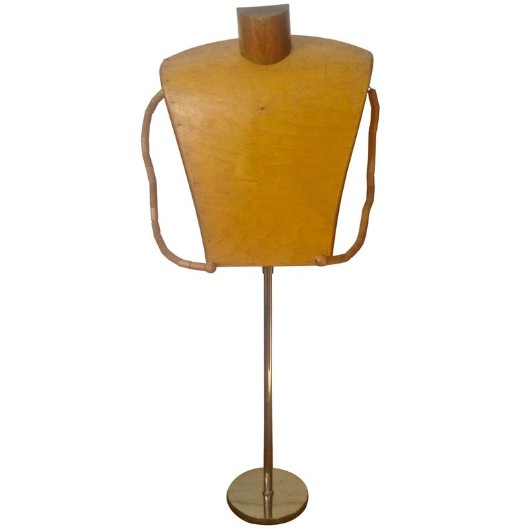 mannequin chair stand fancy covers for weddings mid century wood and chrome sale at 1stdibs