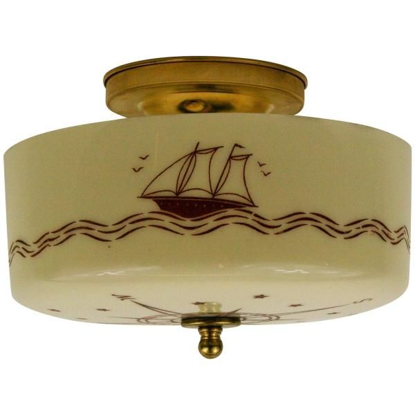 Nautical Compass Ceiling Light 1stdibs