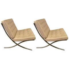Barcelona Chairs For Sale Custom King Throne Chair Pair Of Vintage Mies Van Der Rohe At 1stdibs