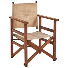 bamboo directors chairs replacement patio chair slings 1950s mcguire and brass leather folding director s x early 20th century collapsable canvas