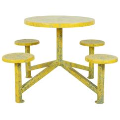 Ice Cream Table And Chairs Skeleton Chair Wake Me Up Yellow Splatter Paint For Sale At 1stdibs