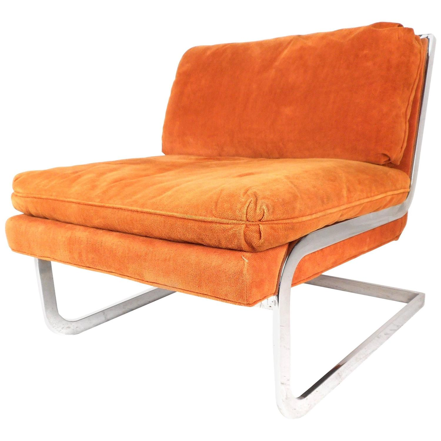 modern slipper chair staples chairs big and tall mid century cantilever after milo