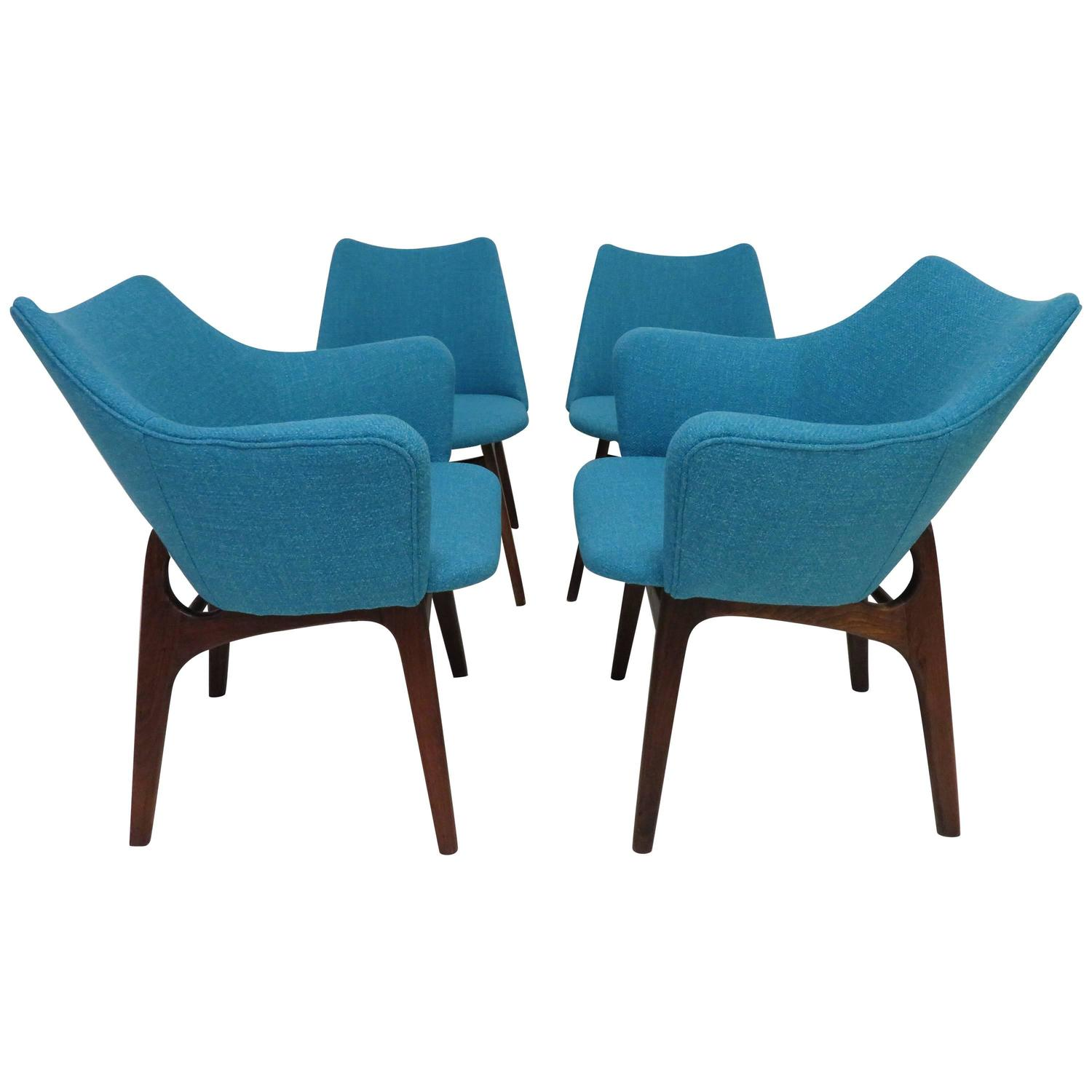 henredon asian dining chairs hoveround power set of four adrian pearsall sculptural walnut