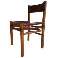 Leather Safari Chair Camping High Arne Norell Side Modernist Denmark