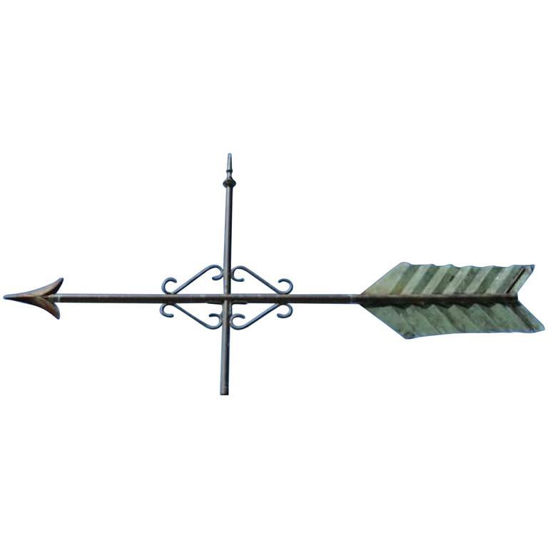 Large Arrow Weathervane, 19th Century, American at 1stdibs