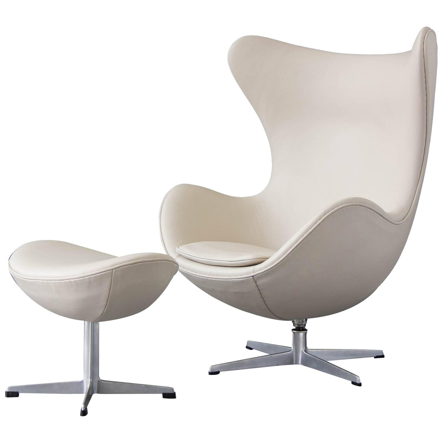 egg chairs for sale hans wegner the chair with ottoman by arne jacobsen at 1stdibs