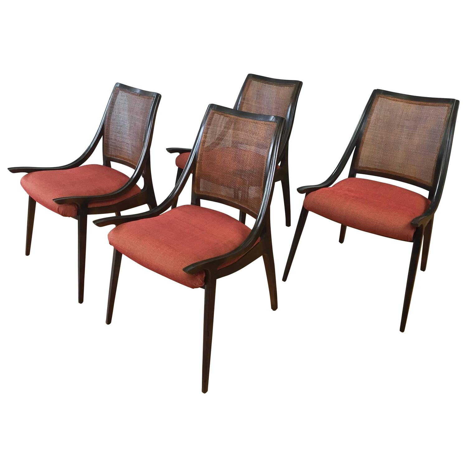 cane back chairs for sale bedroom chair champagne four walnut dining by richard thompson