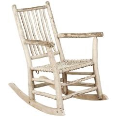 White Rocking Chairs For Sale Patio Kids Painted Rustic Chair At 1stdibs