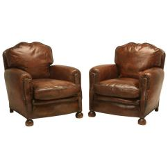 French Club Chairs For Sale Hanging Chair Pier One Pair Of Leather Art Deco At
