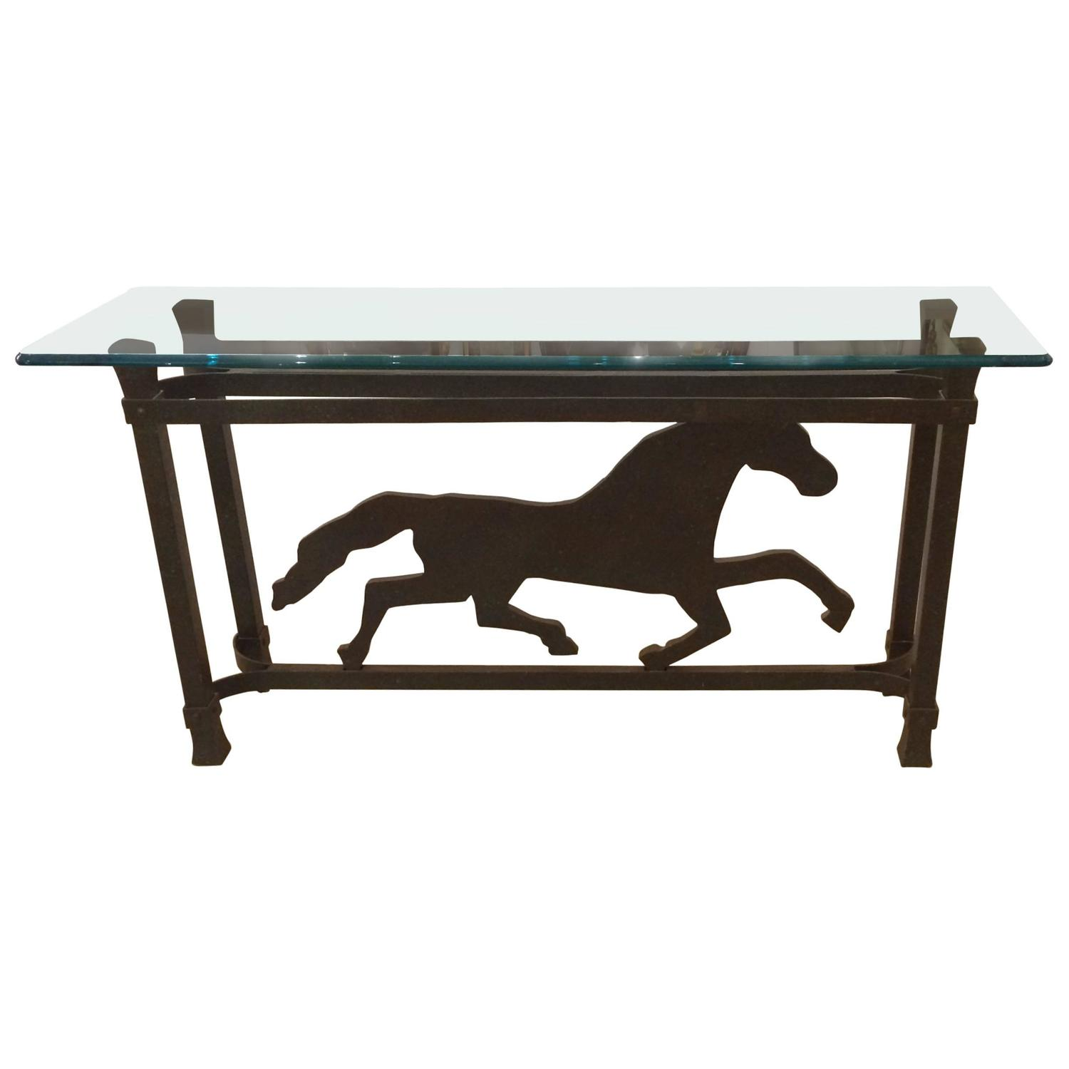 horse sofa table best leather sectional reviews unusual iron striding console at 1stdibs