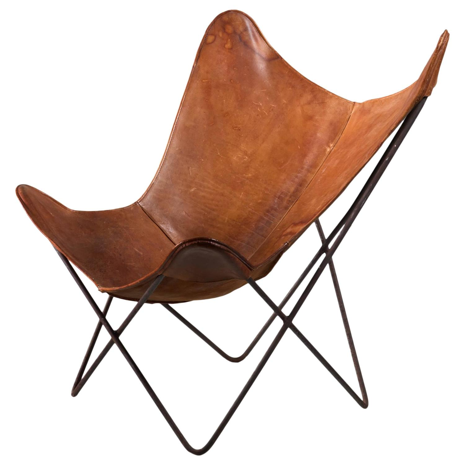 butterfly lounge chair dining chairs home goods jorge ferrari hardoy for knoll 1950s