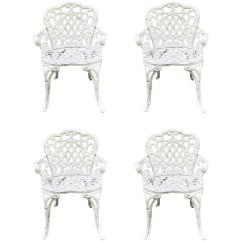 Antique Cast Iron Garden Table And Chairs Office Chair Accessories Australia Set Of Four Early For Sale At 1stdibs