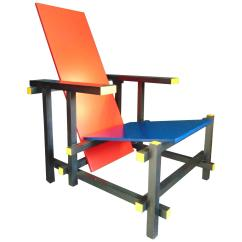 Red Blue Chair Accent Purple And By Gerrit Rietveld For Cassina Vintage