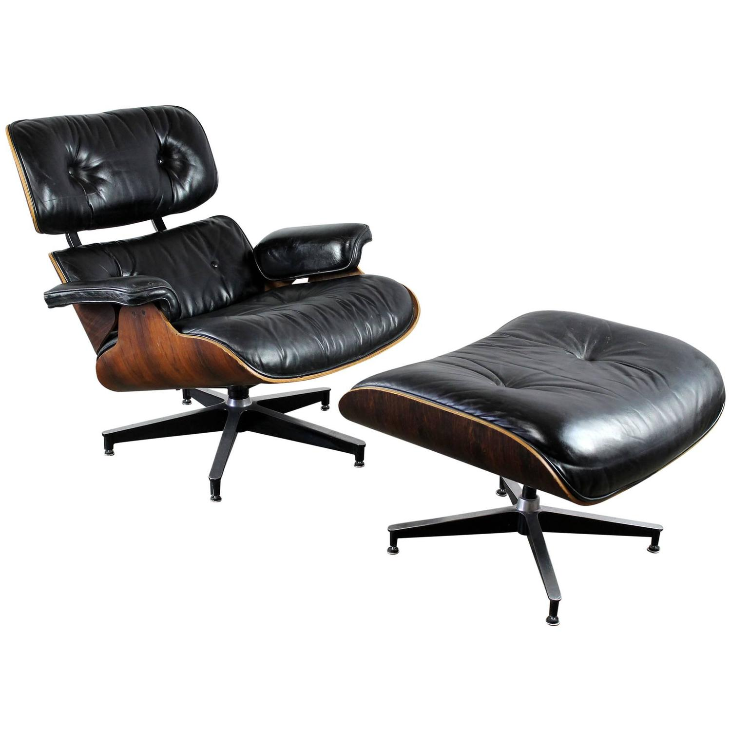 Eames Chair Repair Vintage Herman Miller Eames Lounge Chair And Ottoman In