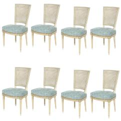 Louis Dining Chairs Deck Chair Picture Frame Set Of Eight Xvi Style Caned Back For