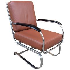 Leather And Chrome Chairs Splat Mats For High Machine Age Kem Weber Lloyd Lounge