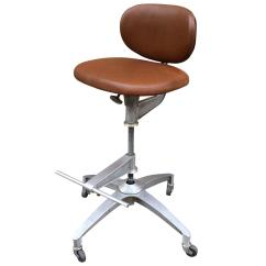 Adjustable Drafting Chair Simple Wood Patio Plans Shaw Walker Aluminum And Leather Stool