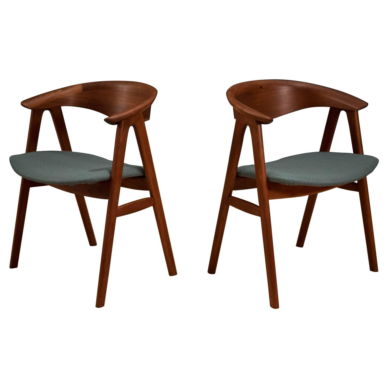 teak dining room chairs for sale buffalo check chair danish erik kirkegaard at 1stdibs