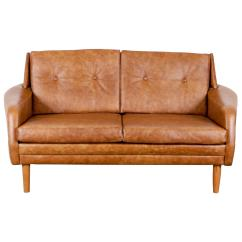 Mid Century Style Sofa Canada Discount Leather Uk Danish Brown Loveseat At 1stdibs