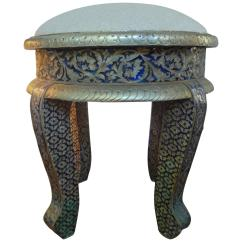 Steel Chair Buyers In India Louis Xiv Anglo Indian Metal Clad Upholstered Ottoman At 1stdibs