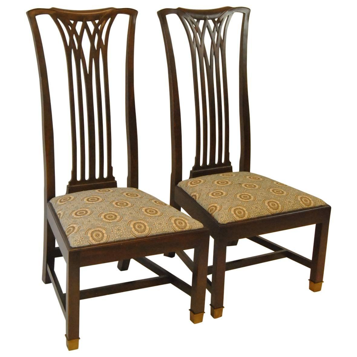 hickory chairs for sale hanging chair in balcony pair of arts and crafts style mahogany quotsebastian quot side