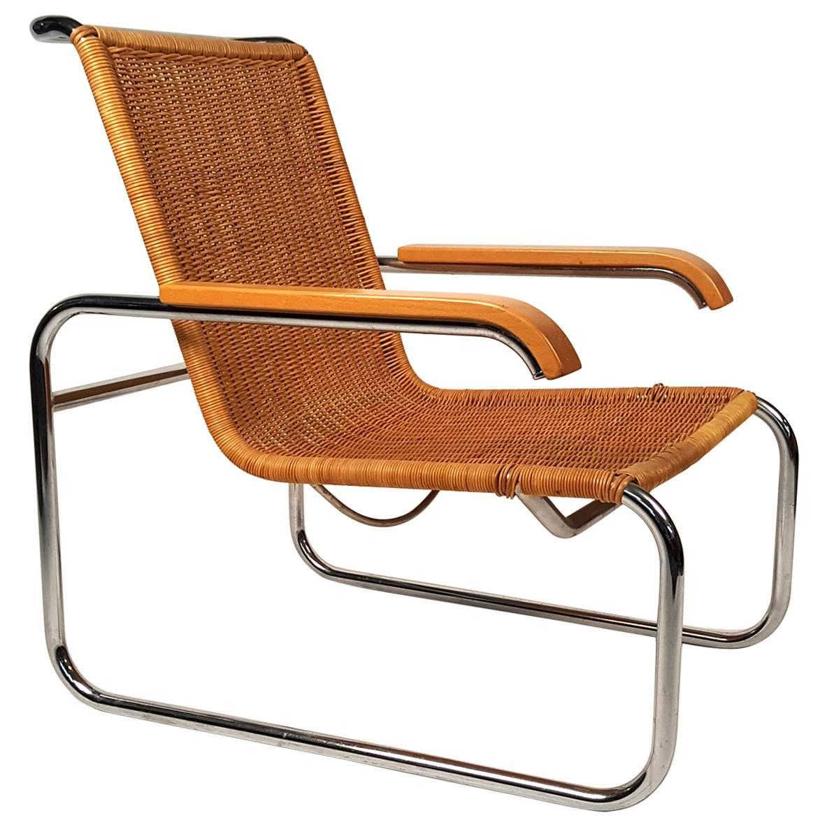 marcel breuer chair metal folding chairs with cushion b 35 lounge for sale at 1stdibs