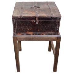 Chair Box Stand Blue Dining Covers Hand Carved Wood On Late 18th Century For Sale