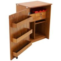 Erik Buch Portable Bar Cabinet or Bar Cart on Casters Teak ...
