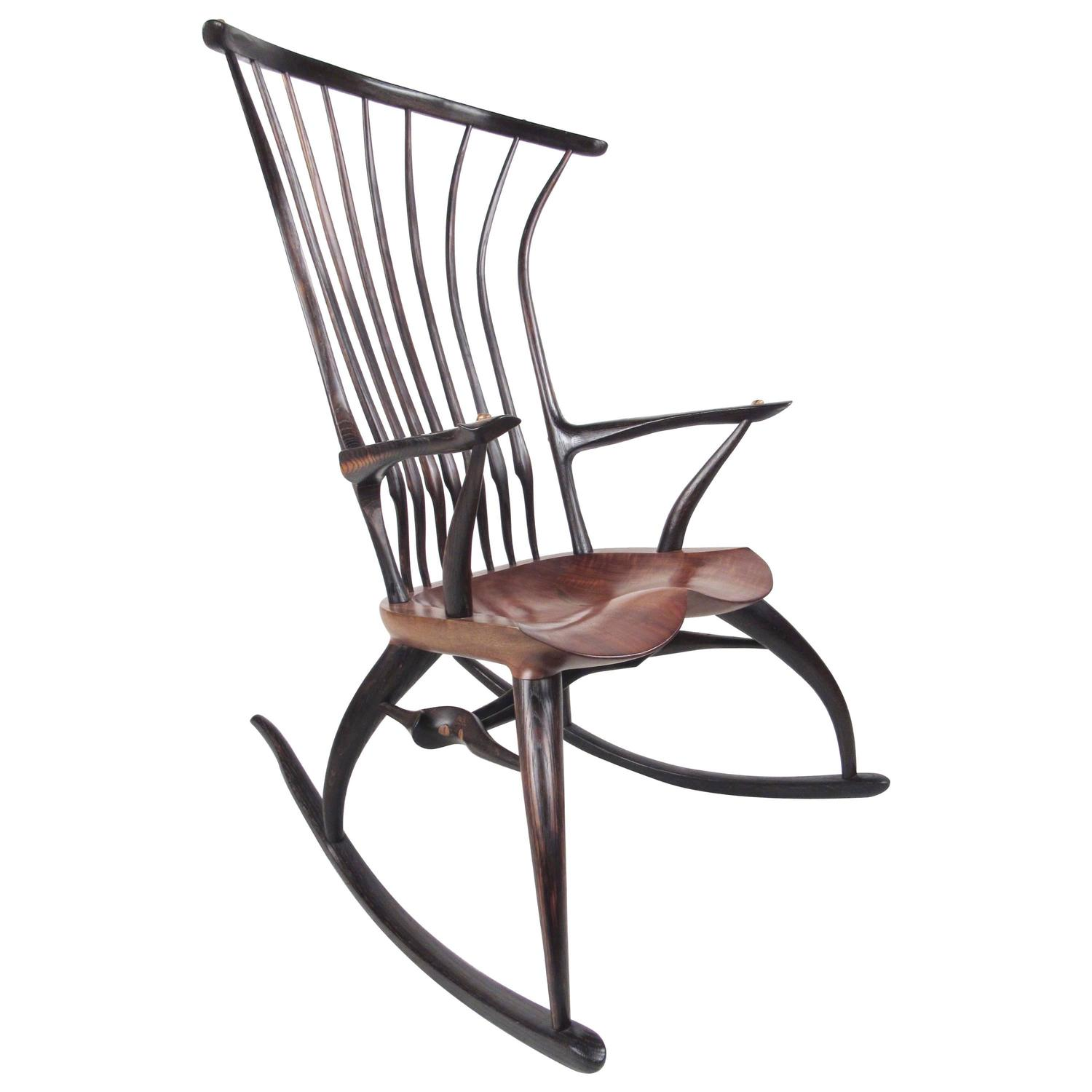 rustic rocking chair white outdoor dining australia modern sculptural windsor by joe