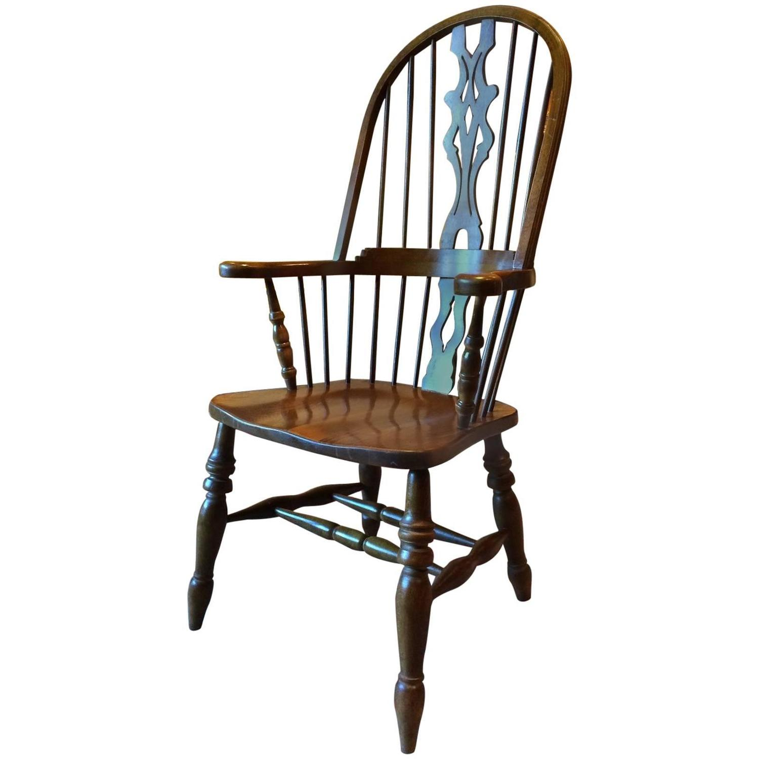 windsor back chairs for sale child potty chair antique style elm armchair stick