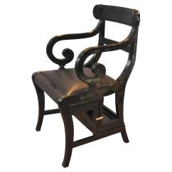 Library Chair Ladder Plans Pretty Chairs Wedding Decoration And Venue Styling Black Lacquer Regency Metamorphic Step