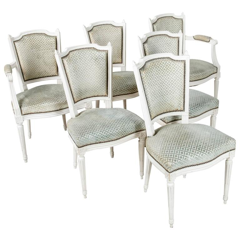 nailhead upholstered dining chair good design set of louis xvi style chairs painted white with upholstery for sale