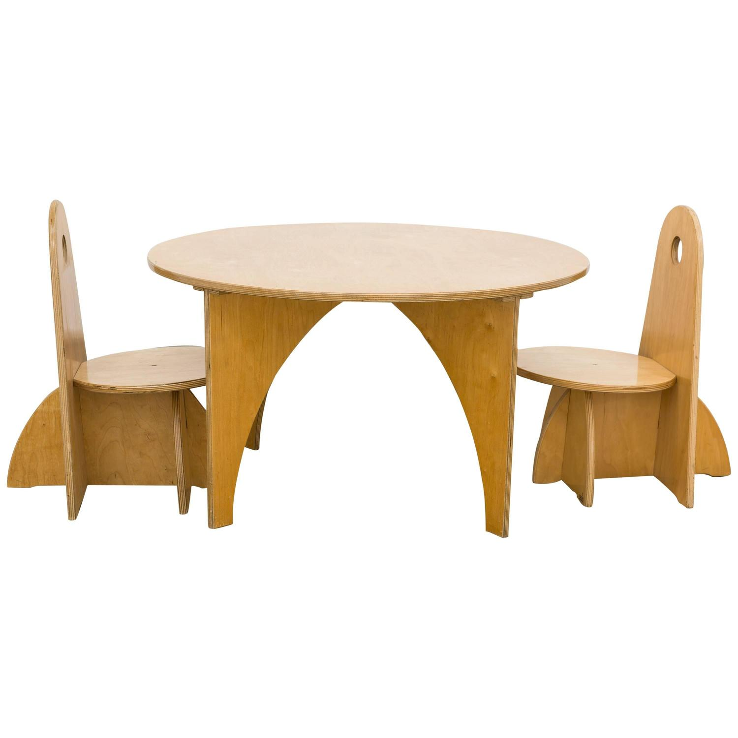 play table and chairs comfy for kids ado two by ko verzuu in plywood