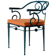 Wrought Iron Chair Small Shower With Back French Art Deco In The Style Of Poillerat Circa 1930s For