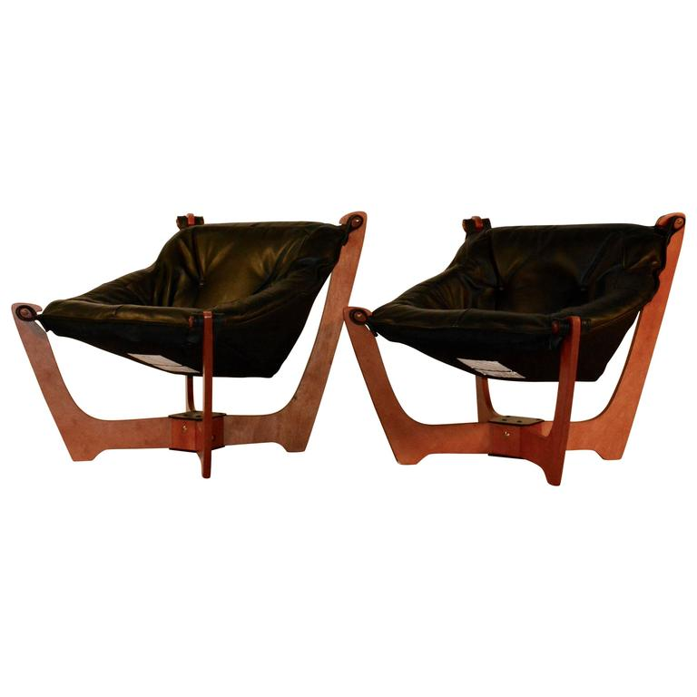 sling chairs for sale beige wingback chair pair of mid century modern style luna at 1stdibs
