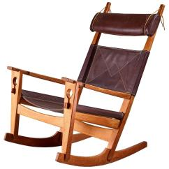 Rocking Chair Leather And Wood Covers Wedding Diy Hans Wegner Keyhole In Original
