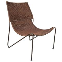Woven Lounge Chair Used Salon Chairs For Sale Rattan And Wrought Iron Slipper