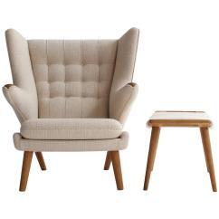 Papa Bear Chair Indoor Outdoor Rocking Cushions Hans J Wegner Oak With Stool A P